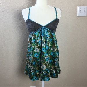 Free People for Anthropologie Silk Baby Doll Tank